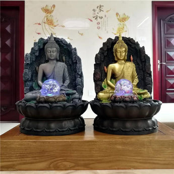 Buddha Water Fountain Humidifier Home Decoration - My Aashis
