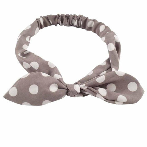 Girls Bow Headbands Printed Head Wrap Stretchy Hairband - My Aashis