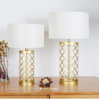 High Quality Golden Finish Decorative Table Lamps - My Aashis