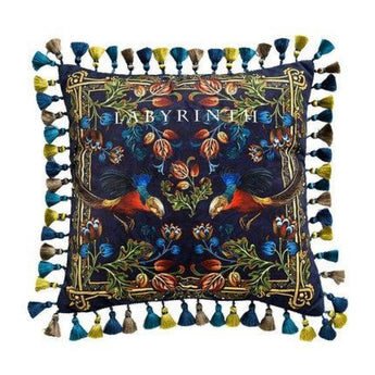 Royal Blue Treadional Print Cushion Cover