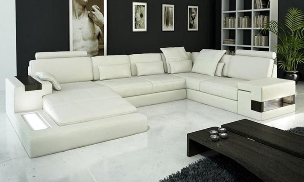 Hot Sale Genuine Leather Modern Sectional Sofa For Living Room
