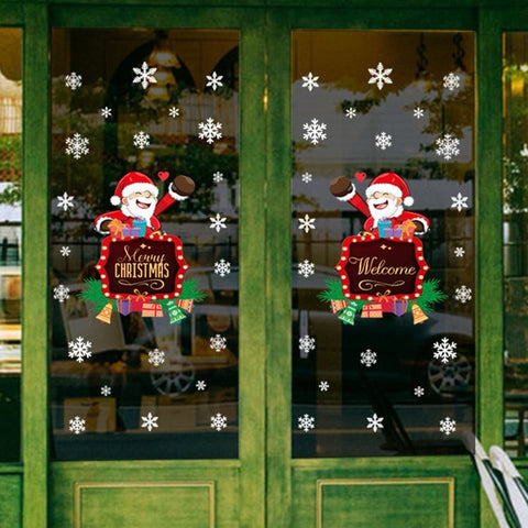 New Year Christmas Window Sticker for Festive Season