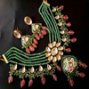 Ethnic Style Pearl Layered Gold Plated Necklace Set - My Aashis
