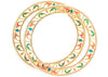 Gold Plated Bangles and Bracelets with Multicolor work