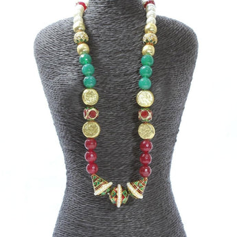 Meenakari Mughal Style Necklace - My Aashis