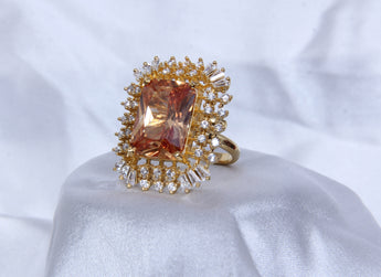 Adjustable Gold Tone Cocktail  Fashionable Rings For Women