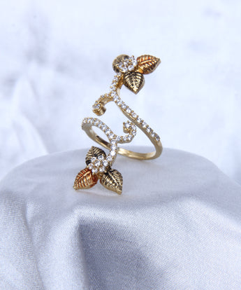 Adjustable Gold Tone Fashionable Rings For Women