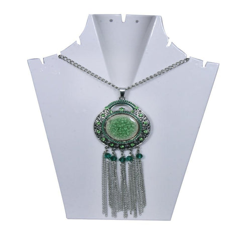 Green Antique Statement Necklace