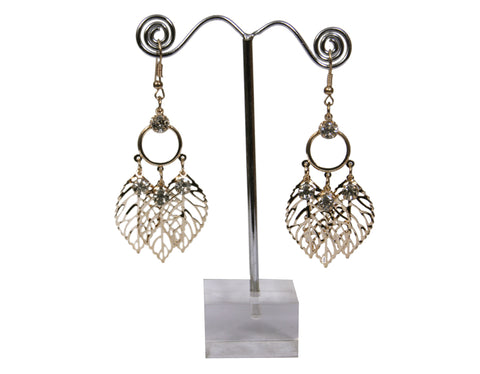 Women's European Fashion Leaf Alloy Drop Earring - My Aashis