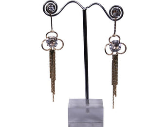 Mesmerising Antique Style CZ Studded Dangle Earrings - My Aashis