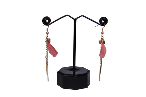 Red Feather Dangle & Drop Earring For Women