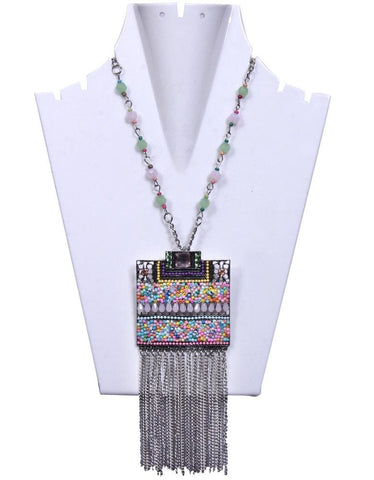 Square Shaped Multicolor Beaded Chain - My Aashis