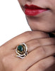 Designer Ad Ring with Emerald Stone