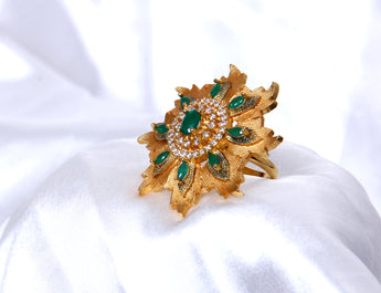 Adjustable Gold Tone Cocktail  Fashionable Rings For Women - My Aashis
