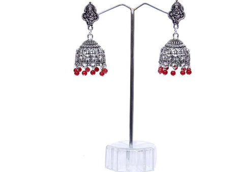 Black Silver Oxidized Metal Indian Jhumka Earring for Woman & Girls