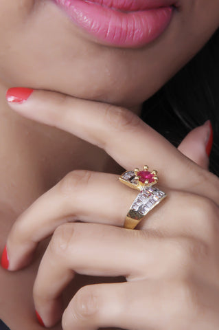 Beautiful Ruby Zircon Ring