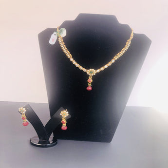 Attractive Light Weight Gold Plated Necklace Set - My Aashis