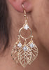 Women's European Fashion Leaf Alloy Drop Earring