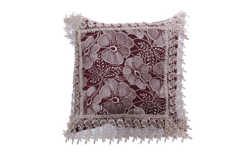Set Of 5 Flower Pattern Embroidery Cushion Cover