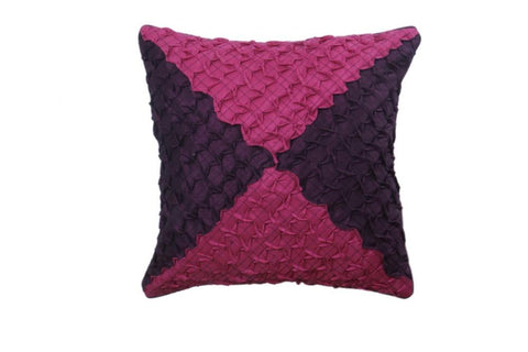 Set Of 5 Pink and Maroon Colored Cushion Cover - My Aashis