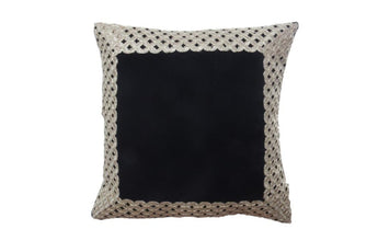 SET OF 5 Black Velvet Cushion Cover with Golden trim