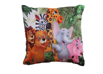 Set of 5 Animated Jungle Theme Cushion Cover for kids