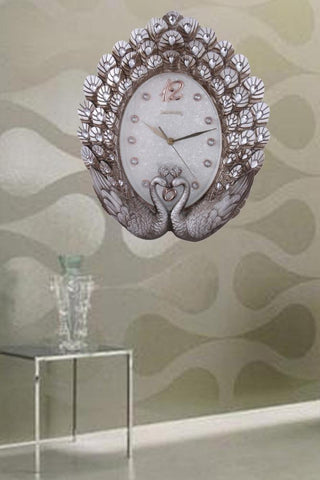 European-style Peacock Wall Clock / Living Room Mute Decorative Wall Clock