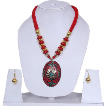 Dazzling Fashion Junk Tibetian Style Beaded Necklace Set - My Aashis
