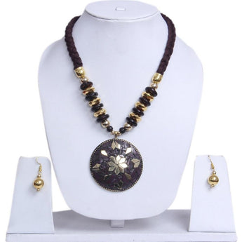Miraculous Handmade Fashion Junk Beaded Necklace Set - My Aashis