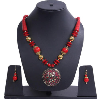 Exclusive Garden Style Handmade Beaded Set of Necklace - My Aashis
