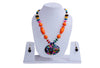 Hawaiian Orange Island Necklace and Earrings