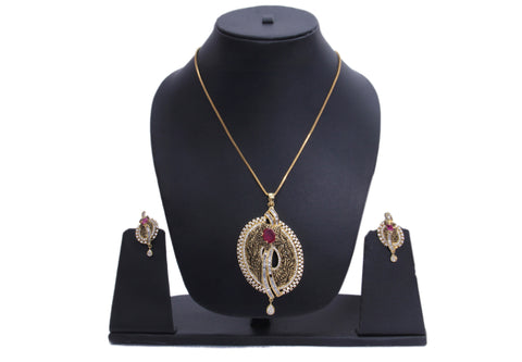 Gold Plated Necklace Set For Women - My Aashis