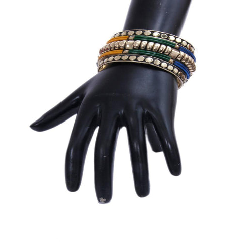 Designers Metallic Golden and Colorful Bangle Set - My Aashis