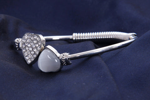 Sterling Silver Bracelet With White Stone