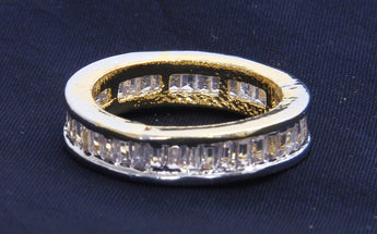 Gold-Plated Zarcon-Studded ring