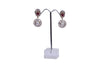 Ruby Zircon CZ Traditional Fashion Jewelry Pearls Earrings - My Aashis