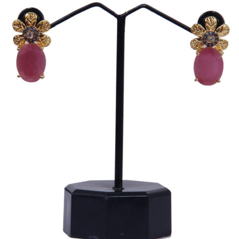 Trendy Collection of Multicolor Filigree Flower Stone Stud Earrings - My Aashis