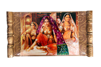 Traditional Indian Women Oil Painting Village