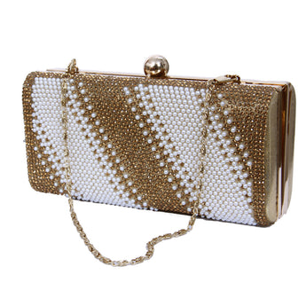 Evening Party Prom Pearl Clutch Purses For Girls and Women - My Aashis