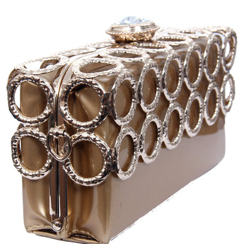 Luxury Evening Clutch Women Metal Purses Fashion Hard Case Handbags - My Aashis