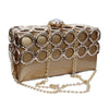 Luxury Evening Clutch Women Metal Purses Fashion Hard Case Handbags