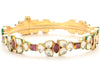 Goldtone polki work with Pink Color Stone Studded Bangles/Bracelet