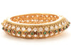 Gold Tone Ethnic Style Bangles made with Multicolor Polki and Cubic Zarcon