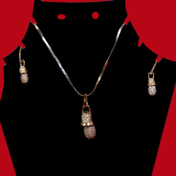 Starlight Chain Style Pearl Drop Pendant Set - My Aashis