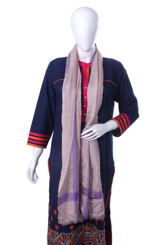Bedazzle Pink-Purple Striped Scarf - My Aashis