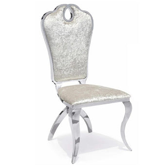 Trendy Silver Steel Dining Chair Set - My Aashis