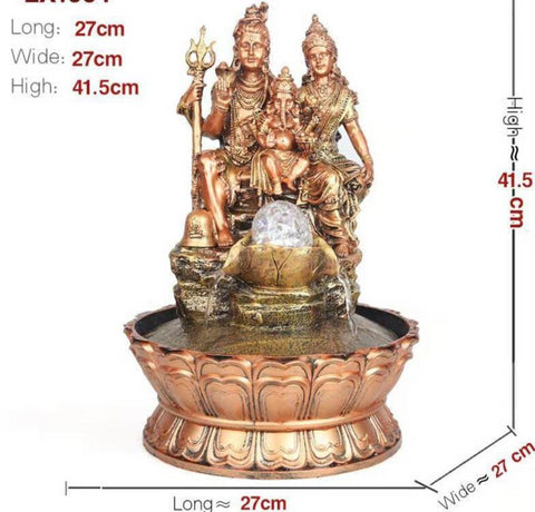 Religious Statue Shiv Water Fountain For Home Decor - My Aashis