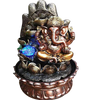 Ganesha Tabletop Water Fountain With LED For Home Decor