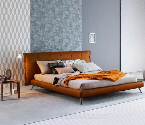 Latest fashionable italian leather  bed frame designs - My Aashis