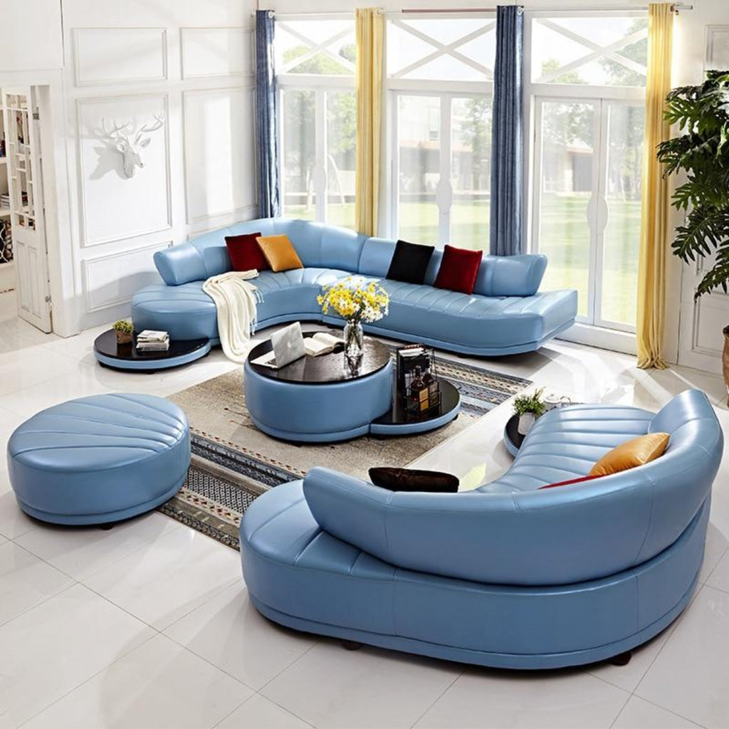 Unique And Luxury Shaped Sofa Set Furniture